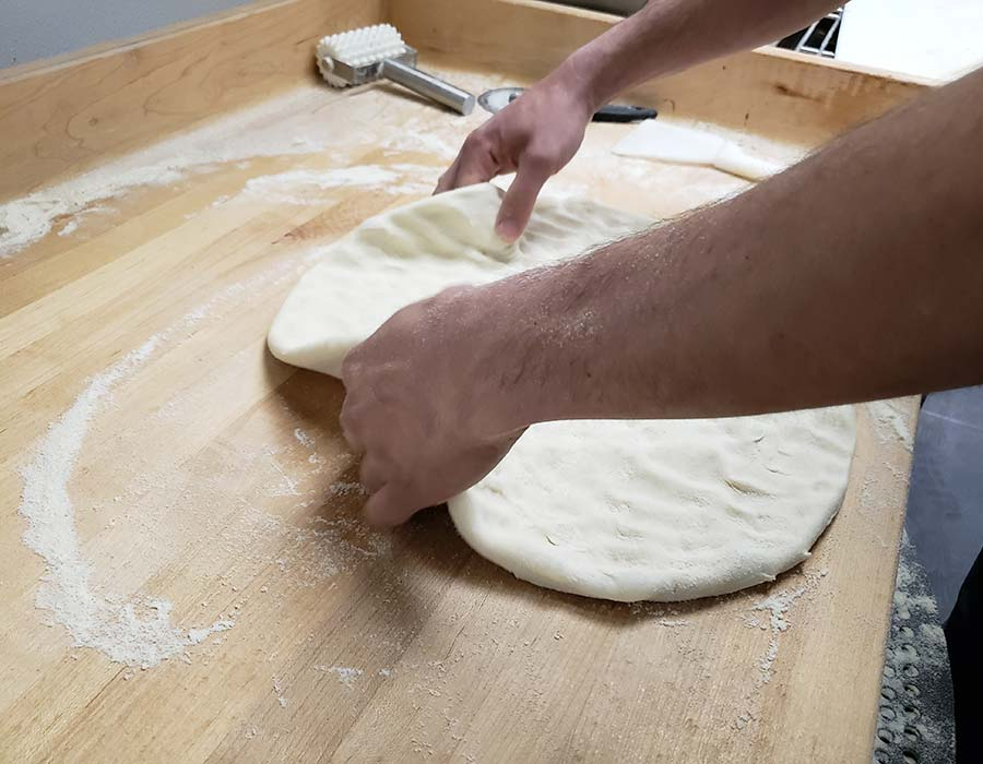 Pizza Dough Kneading
